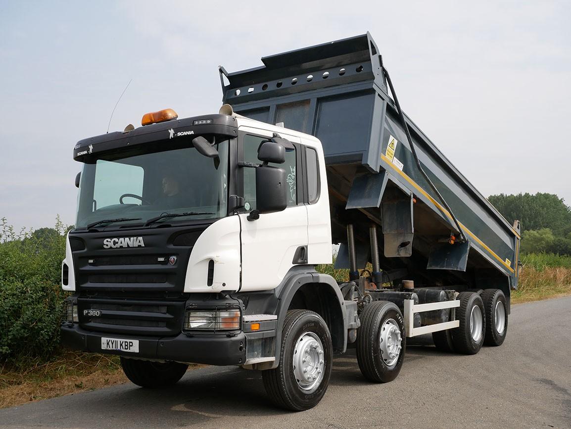 Scania P360 8 X 4 Steel Body Tipper