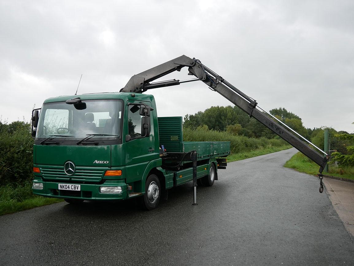 Mercedes Benz Atego 818 4 X 2 Flat with Crane
